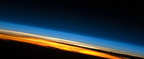 Station spatiale internationale, coucher de soleil