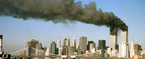 Les Twin Tower du World Trade Center, le 11 septembre 2001.