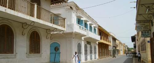 L'architecture colonial de Saint-Louis au Sénégal.