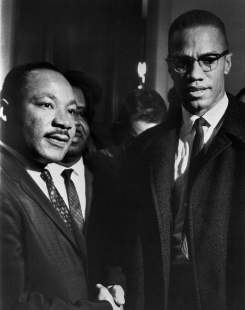 Martin Luther King et Malcolm X.