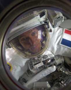 Thomas Pesquet, à bord de la Station spatiale internationale.