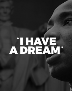 « I Have a Dream », Martin Luther King.
