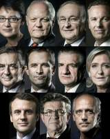 Onze candidats à l'élection présidentielle 2017.