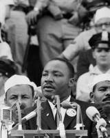 Martin Luther King, donne son discours « I have a dream » à Washington DC, le 28 août 1963.
