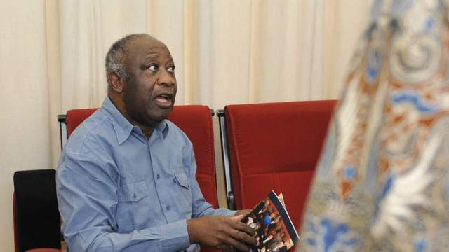 Laurent Gbagbo durant son assignation à résidence en mai 2011.