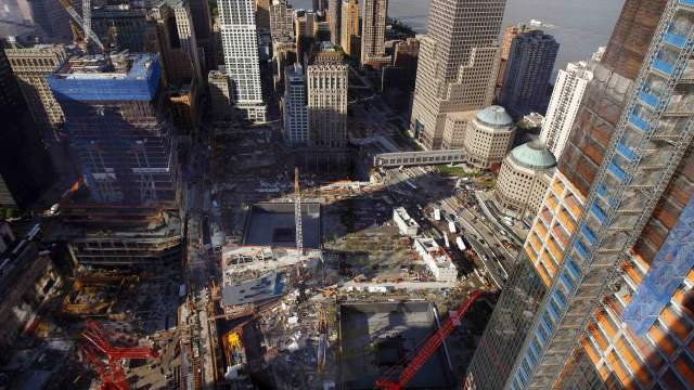 Le site de Ground Zero, à New York, USA.