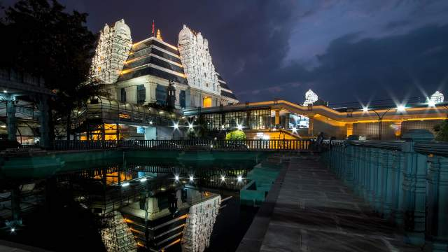 ISKCON (Temple de la Conscience Internationale de Krishna) à Bangalore, Inde