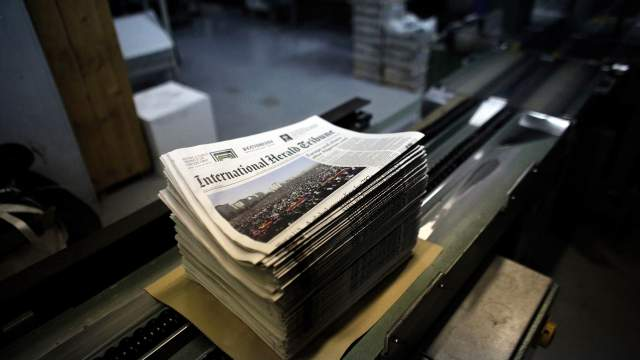 Le journal « International Herald Tribune ».