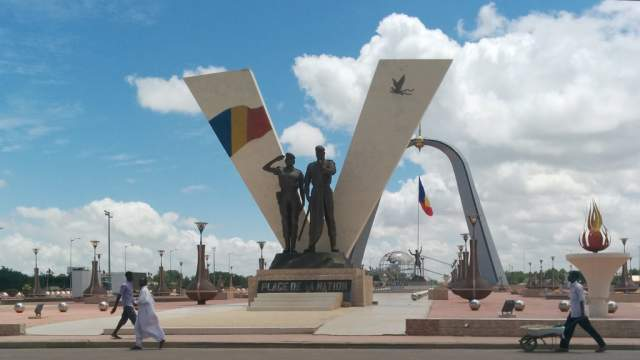 Place de la Nation à Ndjamena, au Tchad.
