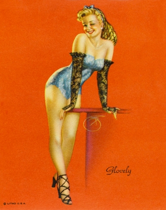 Glovely, La Belle gantée, Pin-up, États-Unis, v.1940