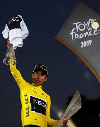 Vainqueur Tour de France cyclisme Egan Bernal Colombien 2019-07-28t202827z_1460138597_rc168d7dff20_rtrmadp_3_cycling-france