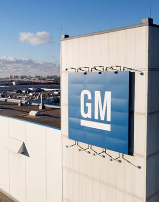 Une usine de General Motors (GM).