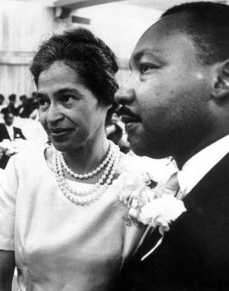 Rosa Parks et Martin Luther King.