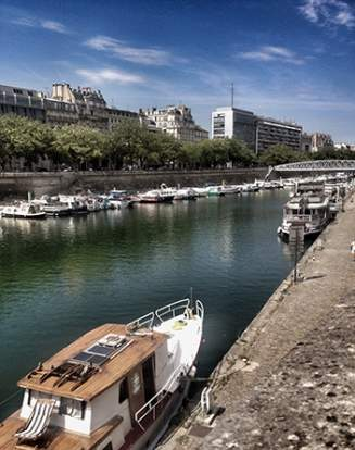 Le port de l'Arsenal, à Paris