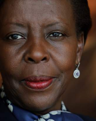 La Rwandaise Louise Mushikiwabo, photographiée en septembre 2018 à New York.