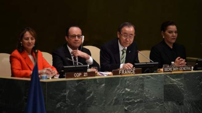 EM Image: Hollande- Ségolène Royal - climat Onu - New York