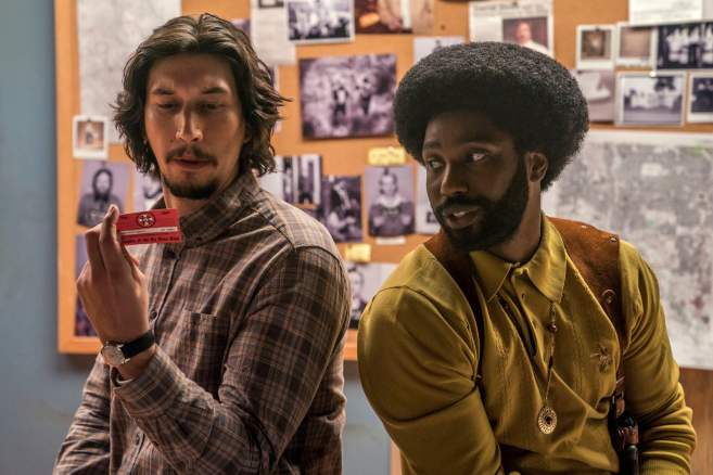 Adam Driver et John David Washington dans «BlacKKKlansman» de Spike Lee.