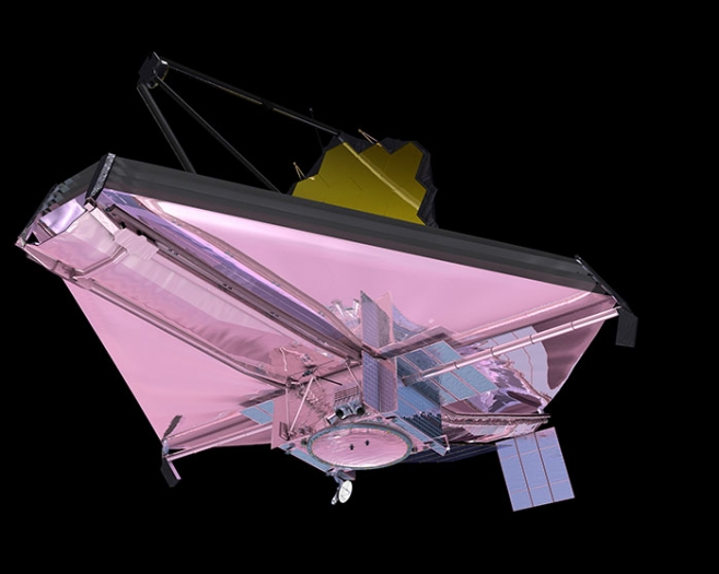 Vue d'artiste du James Webb Space Telescope