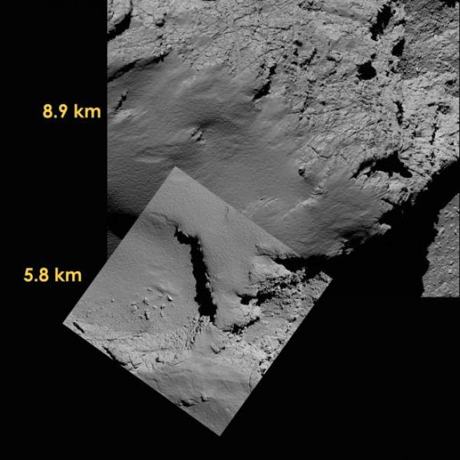 EM photo rosetta tchouri descente